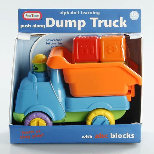 Fun Time Alphabet Learning Push Along Dump Truck