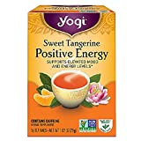 Yogi Tea Bags, Sweet Tangerine for Positive Energy, 16 Count (Pack May Vary) (Color: Yellow, Tamaño: 12 ounce)