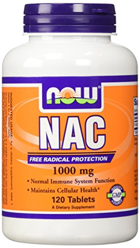Now Foods N-Acetyl-Cysteine Tablet, 1000 mg, 120 Count (N Acetyl Cysteine 1000 compare prices)