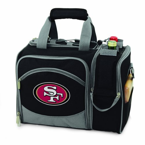 Cheapest Prices! NFL San Francisco 49ers Malibu Insulated Shoulder Pack with Deluxe Picnic Service f...