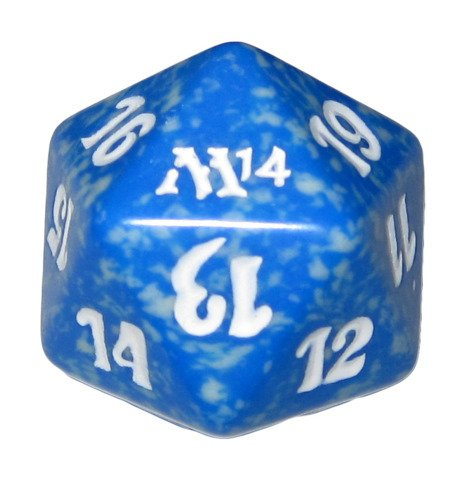 MTG Spindown D20 Life Counter - M14 Magic 2014 Blue