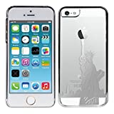 Kwmobile® Hard case City design (New York) for Apple iPhone 5 / 5S in Silver Transparent