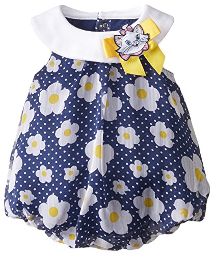 Disney Baby-Girls Newborn Romper with Marie Bow