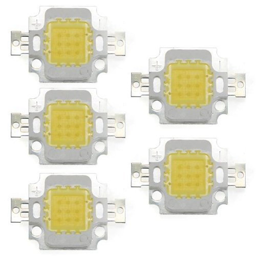 5X 10W High Power Ic Led Flood Light Lamp Bulb Beads Chips White Diy Outdoor