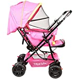 Tiffy And Toffee Baby Shower Stroller Pram (Neon Green With Pink)