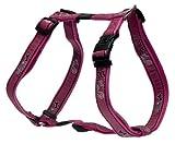 Rogz Fancy Dress Extra Large 1-Inch Armed Response Adjustable Dog H-Harness, Pink Bone Design