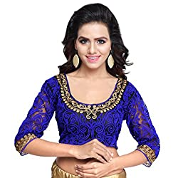 Try n Get's Blue Color Gamti work Fashionable designer Blouse Piece