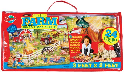 Cheap Fun Shure On The Farm Floor Puzzle (B000IPOT72)