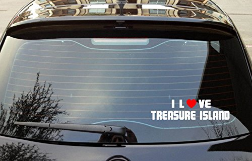 I LOVE TREASURE ISLAND California Island Nature Vinyl Decal Bumper Window Sticker 8