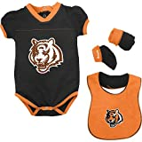Reebok Cincinnati Bengals Girls Creeper, Bib & Booties (3/6 Months) Amazon.com