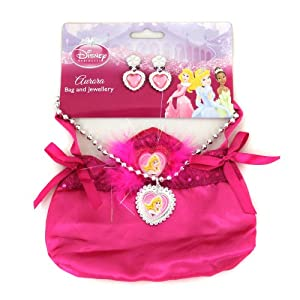 Disney Princess Sleeping Beauty Handbag Jewellery Set by Rubies Masquerade