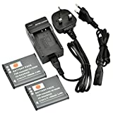 DSTE® 2pcs VW-VBX090 Rechargeable Li-ion Battery + Charger DC16U for Panasonic VBX090, HX-WA03, HX-WA2, HX-WA20, HX-WA3, HX-WA301 Digital Cameras