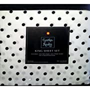 cynthia rowley black and white dot king sheet set