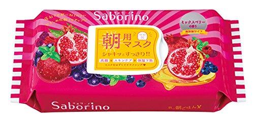 【サボリーノ】目ざまシート_朝用マスク (【パープル】完熟果実の高保湿タイプ:ミックスベリーの香り(28枚入り)【限定品】)