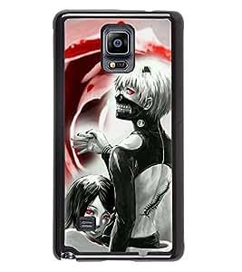 PRINTVISA Gost Doll Premium Metallic Insert Back Case Cover for Samsung Galaxy Note 4 - N910F - D5782
