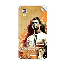 ezyPRNT Micromax Canvas Doodle 3 A102 Christiano Ronaldo Football Player mobile skin sticker