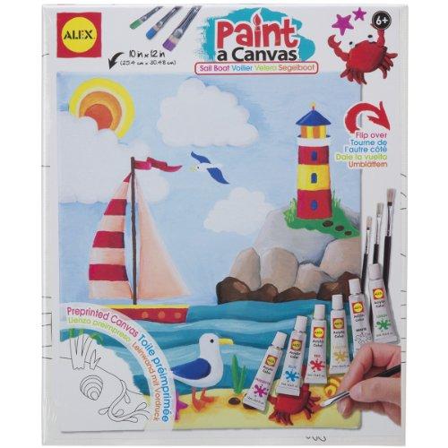 ALEX Toys Artist Studio Paint A Canvas Sailboat Art Kit