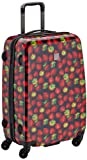 Saxoline Suitcase Strawberries, 67 cm, 53 cm black