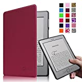 Fintie Kindle 5 & Kindle 4 Ultra Slim Case - The Thinnest and Lightest PU Leather Cover with Magnet Closure (Only Fit Amazon Kindle With 6'' E Ink Display, does not fit Kindle Paperwhite, Touch, or Keyboard), Purple
