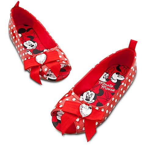 Disney Store Minnie Mouse Red Costume Shoes/Slippers/Flats (Size 10) front-986924