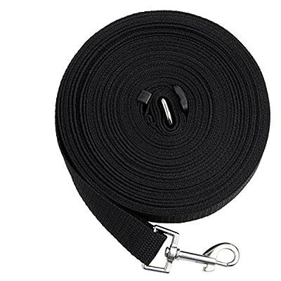 Foxnovo 15m /50ft Long Nylon Pet Dog Cat Puppy Tracking Training Obedience Lead Leash (Black)