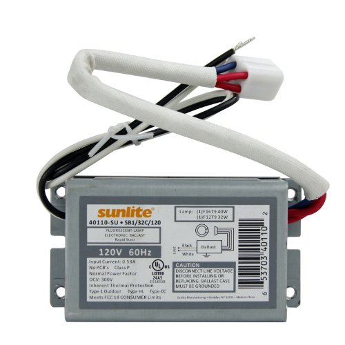 Sunlite 40110-SU SB132C120 1 Lamp F16T9 or F12T9 Fluorescent Circline Ballast, 120-volt