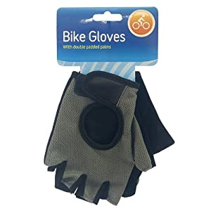 Guilty Gadgets ® - Bicycle Gloves Sports Bicycle Mountain Finger Cycling Double Padded Mitt Black