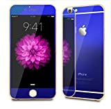 iPhone 6 (4.7 Inch Only) Screen Protector, Front+Back Mirror Tempered Glass Film Screen Protector Cover for iPhone 6 4.7 Inch [2-Pack][Crystal Clear]-Blue