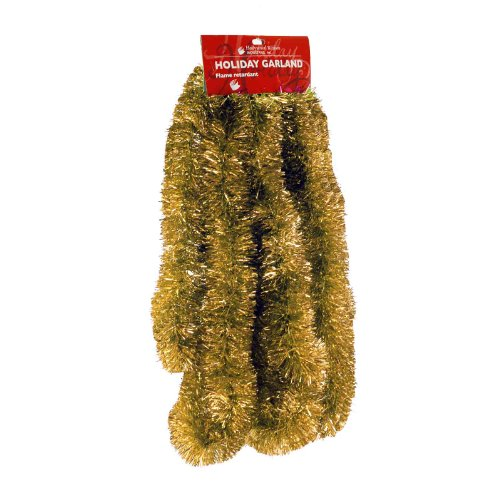 Elegant Hanging Tinsel Garland 3-Inch x 15-Feet - Choose from 11 Fun Holiday Colors Garland color: Gold
