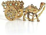 Shopnetix Brass camel cart showpiece one Piece