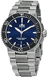 Oris Aquis Date Blue Dial Stainless Steel Mens Watch 733-7653-4135MB