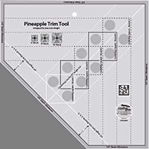 Creative Grids Pineapple Trim Tool Plus Tropical Fruit Pineapple Quilt Pattern