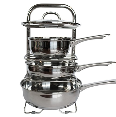 UHGOODS Cookware Holders Height Adjustable Pan and Pot ...