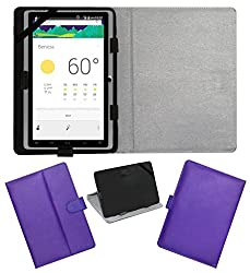 ACM LEATHER FLIP FLAP TABLET HOLDER CARRY CASE STAND COVER FOR DOMO SLATE X15 QUADCORE PURPLE