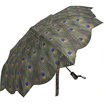 Galleria Peacock Auto Open/Close Super-mini Umbrella - Peacock