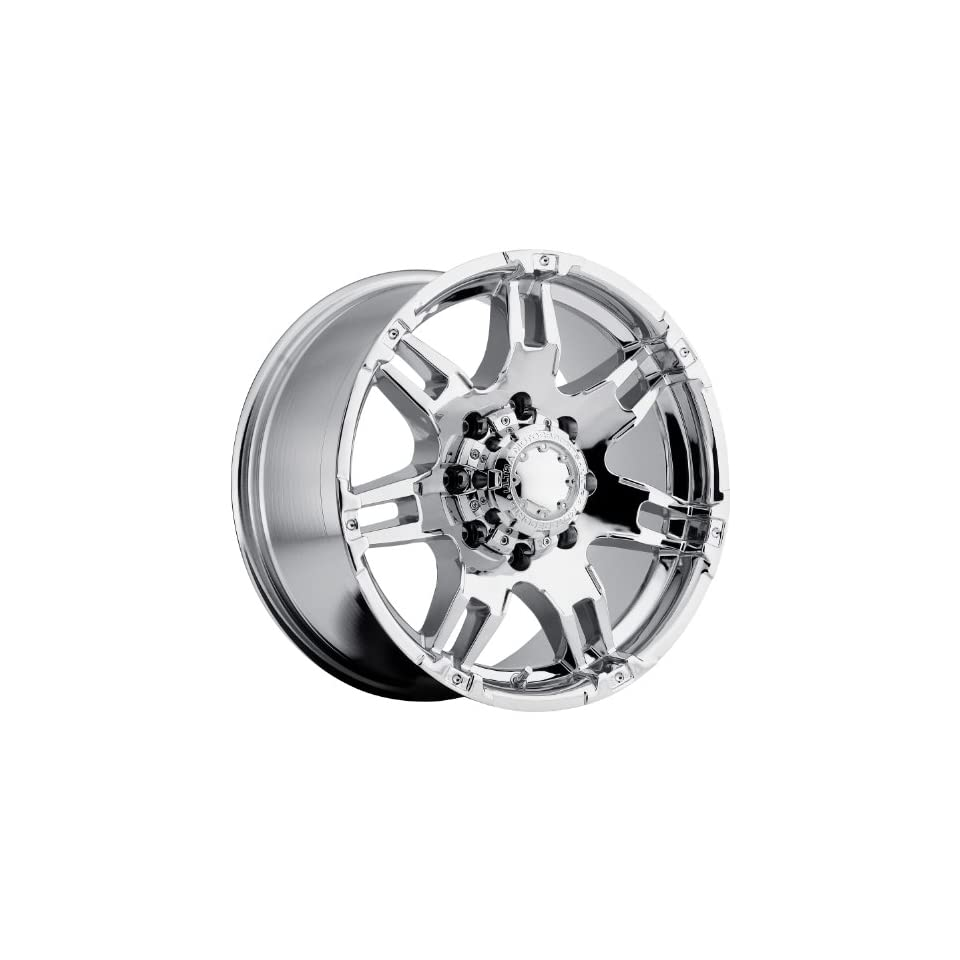 Ultra Gauntlet 16 Chrome Wheel / Rim 8x170 with a  6mm Offset and a 125 Hub Bore. Partnumber 238 6887C