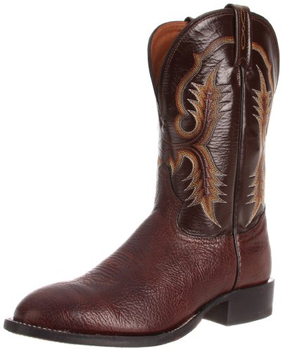 Tony Lama Boots Men's Shoulder CT2032 Boot,Chocolate Shrunken Shoulder/Espresso Vegas,14 D US