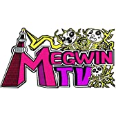MEGWIN TV オリジナルロゴステッカー 白シール