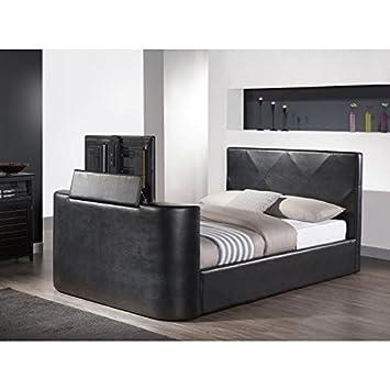 Hollywood cama TV 140x 190cm + somier-negro