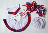 Teddy Bear Clothes White Cheerleader Outfit fits Build a Bear