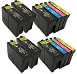 2 X T1301 - T1304 Series + 4 Extra Blacks Compatible Multipack - Full Set of 12 Cartridges for Epson Stylus Office SX525WD Printer (Replaces :T1301/Black T1302/Cyan T1303/Magenta T1304/Yellow) T1306 33ML Black 14ML Colour ***By TriINKS***