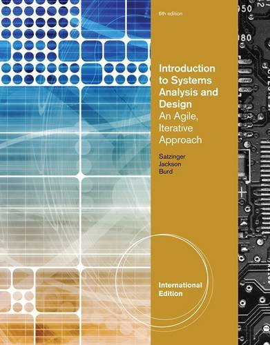 Introduction To Systems Analysis And Design An Agile Iterative Approach