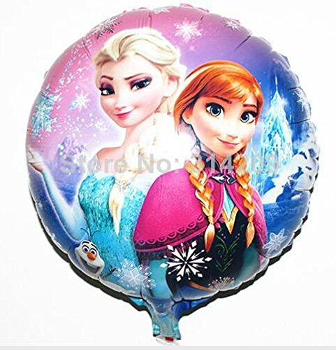 5PC/Lot Cartoon Birthday Party Supplies Decoration Frozen Princess Queen Anna Elsa Round Balloons for Kids Foil Balloon 18 inch - 1