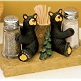 Bearfoots Bears Salt & Pepper Set With Toothpick Holder