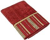 Avanti Monet Bath Towel, 27 by 50-Inch, Ming Red