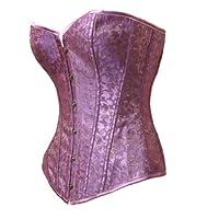 Bslingerie Womens Purple Gold Brocade Boned Bustier Corset by Bslingeire