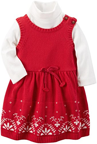 Carter's Baby Girls 2 Pc Sets, Red, 24M
