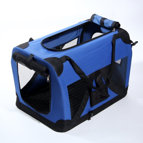 "Masione™ 36"" Blue Portable Pet Dog Cat House Soft Crate Carrier Cage Kennel Xxl front-404085"