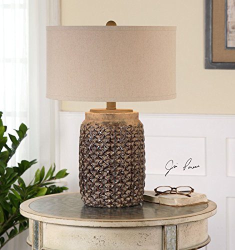 new-rust-brown-glaze-textured-ceramic-table-lamp-beige-linen-shade-desk-light-from-flick911529l3