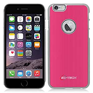 iPhone 6 Case,EZ-TECH Armor Chrome Case made with Hard Aluminum Impact Resistant For ULTRA Protection [Apple iPhone 6 4.7-inch] (PINK)